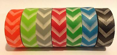 Washi Tape Wide Chevron 15Mm X 10Mtr Scrap Planner Craft Wrap Mail Art
