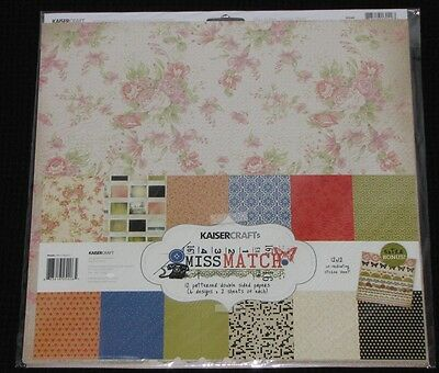"Kaisercraft 'MISS MATCH' 12x12"" Paper Pk + Stickers KAISER *SPECIAL PRICE*"