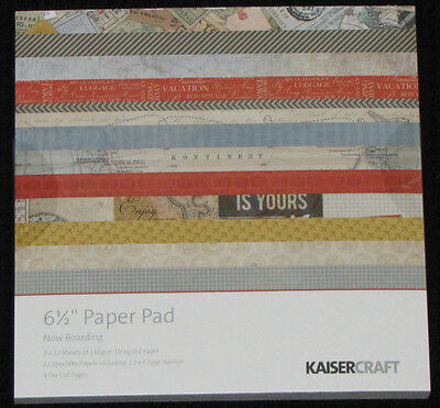 "Kaisercraft 'NOW BOARDING' 6.5"" Paper Pad Holiday/Travel/Vacation **NEW** KAISER"
