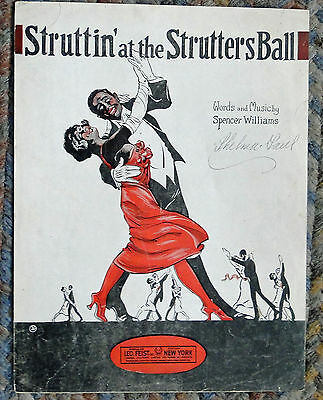 "'22 SPENCER WILLIAMS ""Struttin' at the Strutters Ball""  BLACK COMPOSER"