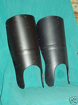 Medieval Greaves Protect Shins in SCA, WMA, & LARP Sword Combat - Dark Victory