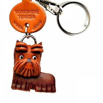 Yorkshire Terrier Handmade 3D Leather Key chain/ring VANCA Made in Japan #56767