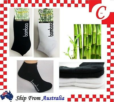 Men MENS WOMEN Bamboo Low Cut Sport Cushion Ankle SOCKS Odor Resistant Healthy