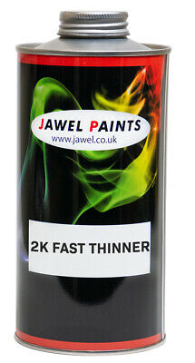 2K Acrylic Fast Thinner - 1 Litre - For Car Paint / Primer / Lacquer