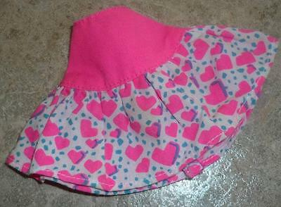 Pink Heart Print Skirt for Tiny Kitty Doll