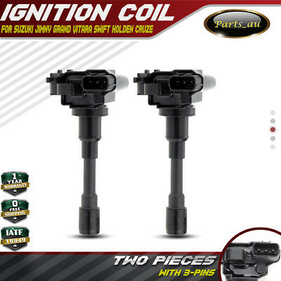 2x Ignition Coils for Holden Cruze Suzuki Jimny Grand Vitara Carry Liana Swift