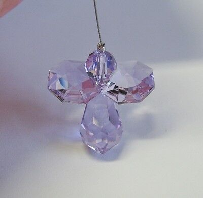 Violet Guardian Angel Suncatcher mw Swarovski Crystal - Full colour Hard to Find