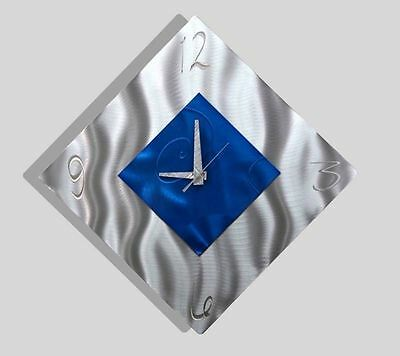 Contemporary Metal Abstract Modern Wall Art Home Decor Clock - Spare Moment