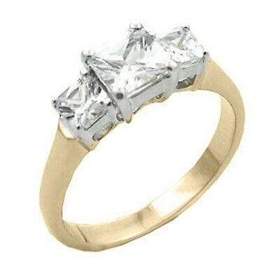 18K GOLD EP 7.2CT DIAMOND SIMULATED ENGAGEMENT RING size 5-11 you choose