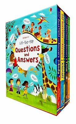 Usborne Questions and Answers Lift-the-flap 5 Books Collection Box Set Hardback