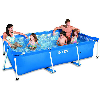 INTEX Family Swimming Pool Frame Rechteck 220x150x60cm Schwimmbecken