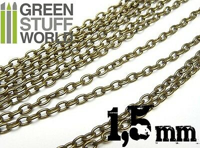 Hobby Chain 1.5 mm - 1 meter - Bronze color - Hobby Chains - Warhammer