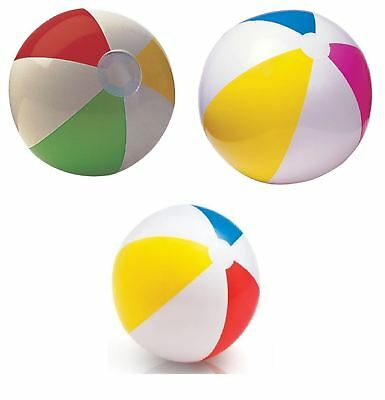 "16"" 20"" 24"" Inflatable Blow Up Panel Beach Ball Holiday Swimming Pool Party Toy"