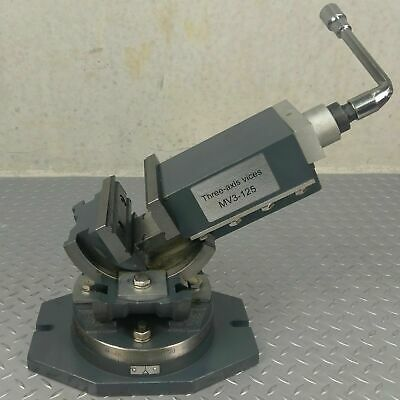 Hydraulic Milling Machine Vice 125mm Swivel Base Precision Made Industrial CNC