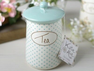 KATIE ALICE Cottage Flower TEA CANISTER Shabby Chic STORAGE JAR By Creative Tops