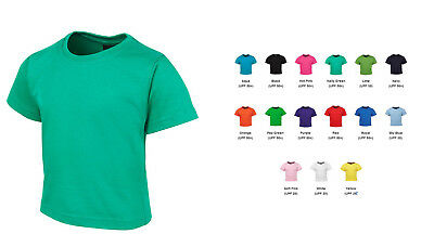 2 Pack Babies Cotton T-Shirt Size 00 0 1 15 Colours Available Tee Girls Boys