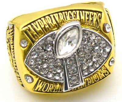 Goodies Bague Chevaliere NFL JOHNSON BUCCANEERS Superbowl 2002 neuve