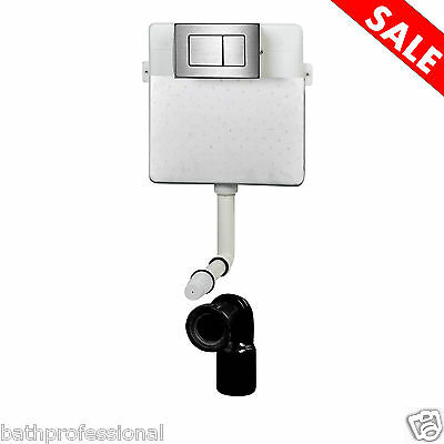 Toilet WC Back to Wall Concealed Cistern Bathroom Flush Push Button S1