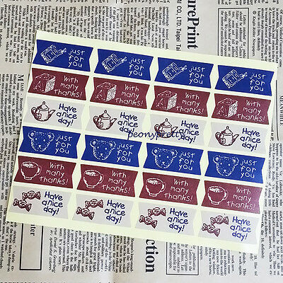 24 seals vintage meaningful sticker envelope seal gift wrapping food decor