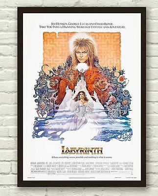 Classic Labyrinth David Bowie Movie Film Poster Print Picture A3 A4