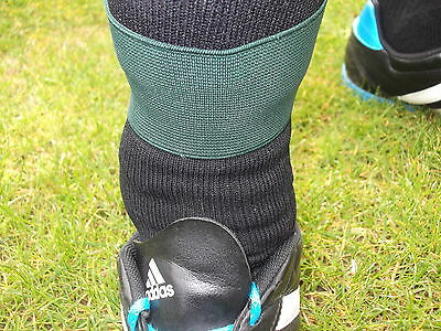 Dark Green Shin Pad Supports / Shinpad Holders / Ties / Guard Stays 2 Ins