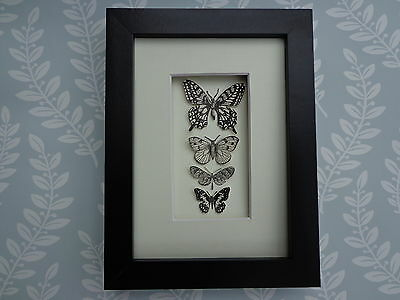 """BUTTERFLY COLLECTION"" An unusual stylish framed picture of paper Butteflies"