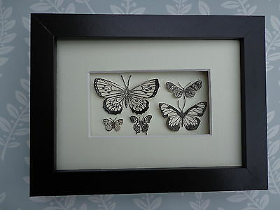 """""""PAPER BUTTERFLY COLLECTION"""" An unusual stylish framed picture of Butterflies"""