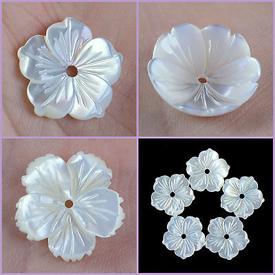 Mother of pearl MOP shell flower pendant bead 15 to 18mm