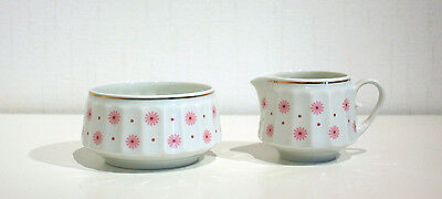 "Vintage, Retro, Arabia Finland,""ROKSANA"" creamer and sugar bowl"