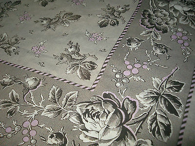 ANTIQUE FRENCH NECKERCHIEF (Scarf, shawl)  - PRINTED TEXTILE  - ALSACE 19th