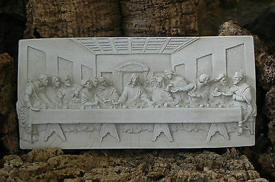 The Last Supper Wall Hanging Plaque Chalkware Plaster New Home Made in Italy