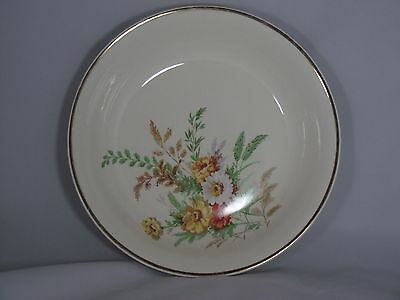 1942 EDWIN KNOWLES WILD FLOWER BOUQUET SERVING DISH union made gold edge