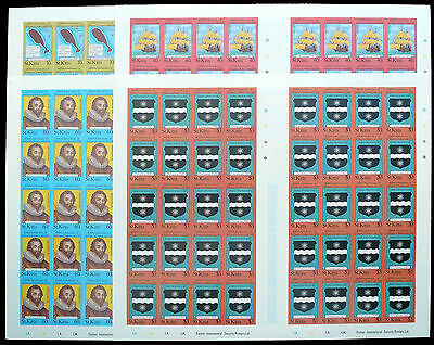 St KITTS 1985 Sir Francis Drake/Xmas Imperforate Complete Sheets of 40 (4) BN754