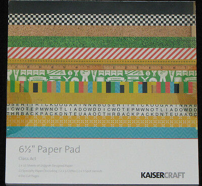 """Kaisercraft 'CLASS ACT' 6.5"""" Paper Pad KAISER *Deleted 3 LEFT ONLY*"""