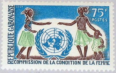 GABON GABUN 1967 285 220 UN Commission for Women für Frauenrechte UNO MNH