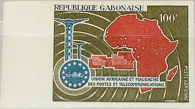 GABON GABUN 1967 286 U C58 UAMPT African Postal Union Post Map Karte 6th Ann MNH