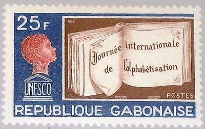 GABON GABUN 1968 312 231 Intl. Literacy Day UNESCO Book Buch Child Schüler MNH