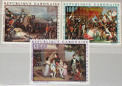 GABON GABUN 1969 330-32 C83-85 Bicent. Napoleon Paintings Gemälde Art Kunst MNH