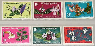 GABON GABUN 1972 464-69 284-89 local Flora Flowers Blumen Pflanzen Plants MNH