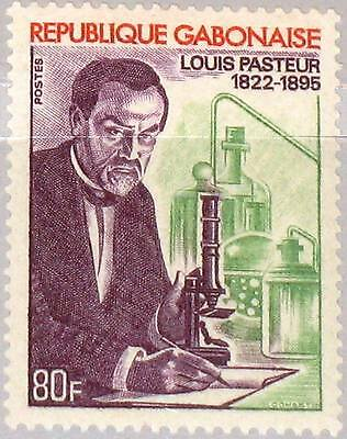 GABON GABUN 1972 473 290 150th Ann Birth Louis Pasteur Bacteriologist Scientist