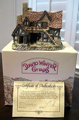 "David Winter 1983 ""THE BOTHY"" John Hine Studios Original Box with COA ~ Exc Cond"