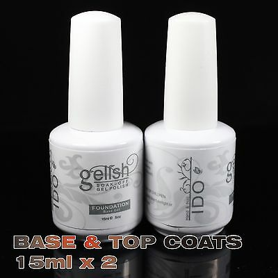 Base Foundation & Top It Off Soak Off UV Nail Gel Curing Polish GELISH I DO 15ml