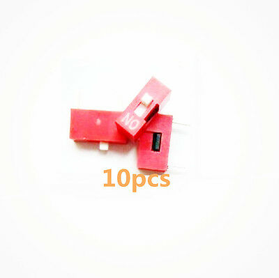 10PCS 2.54mm Pitch 1-Bit 1 Positions Ways Slide Type DIP Switch Red