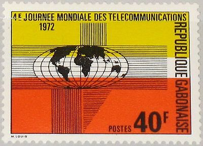GABON GABUN 1972 477 294 4th World Telecommunications Day Globe Symbols MNH