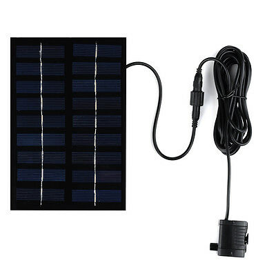 Solar Panel Powered Brushless Water Fountain Pump Pool Pond Garden Watering Kits