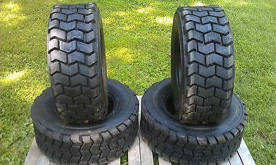 4 NEW 12X16.5 Skid Steer Tires 12-16.5-12 ply rating-HEAVY DUTY, non directional