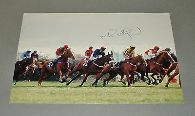 Mick Fitzgerald SIGNED 12x8 Photo 1996 Rough Quest Grand National AUTOGRAPH +COA