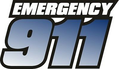 "Reflective 911 Fire Rescue ""BLUE"" Sticker Decal 10.4""x6"""
