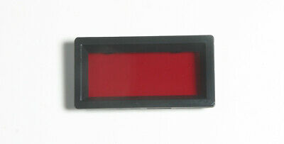 """Display Bezel - 2"""" viewing area - with red non-glare acrylic filter"""
