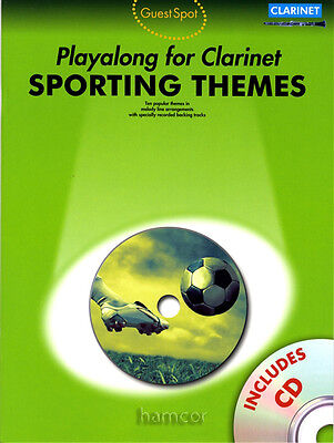 Sporting Themes Playalong for Clarinet Guest Spot Sheet Music Book with CD
